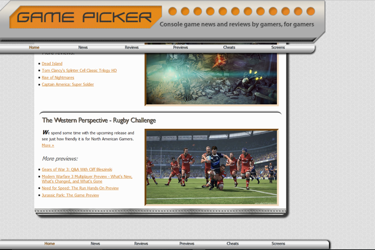 Game Picker Gaming Site